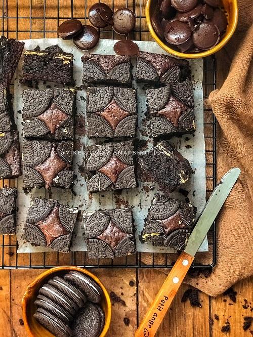 Cukup Mewah Resepi Brownies Oreo
