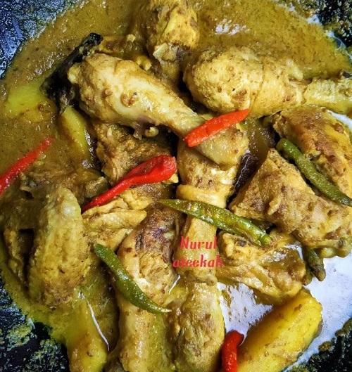 Resepi Ayam Ketumbar Jintan Pedas