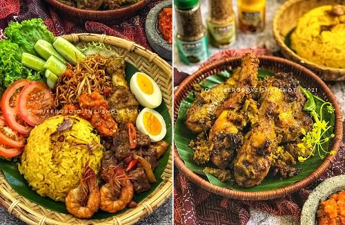 Nasi Kuning dengan Ayam Goreng Bumbu Kuning