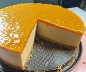 resepi-harum-manis-mango-cheesecake