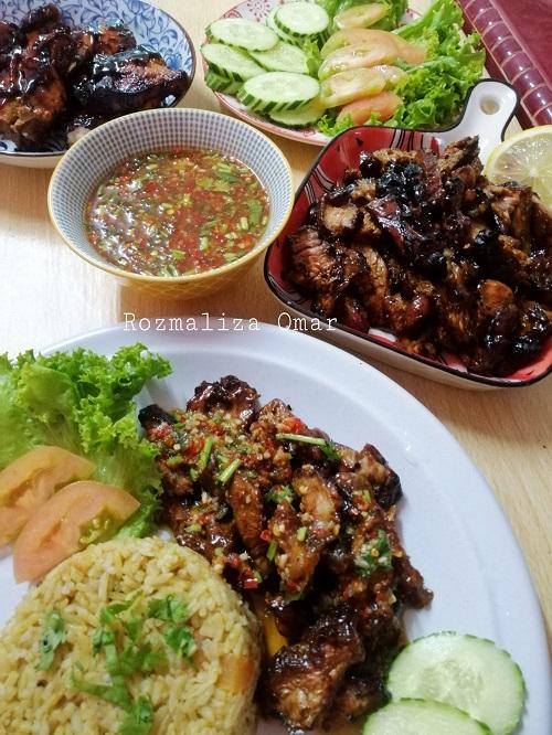 Resepi Nasi Daging Bakar Harimau Menangis