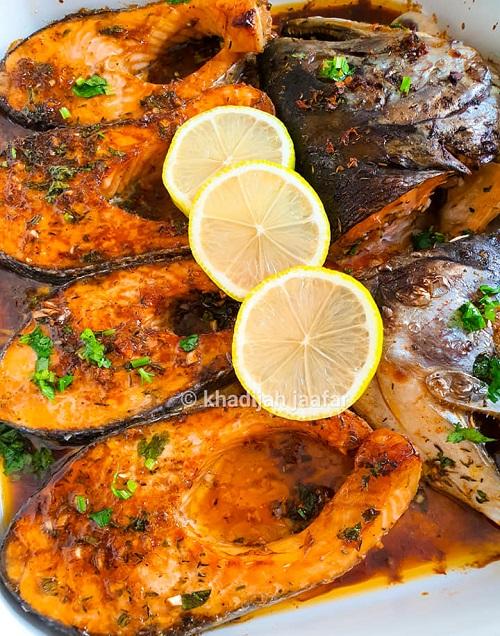 Resepi Western Salmon Grill Lemon Butter
