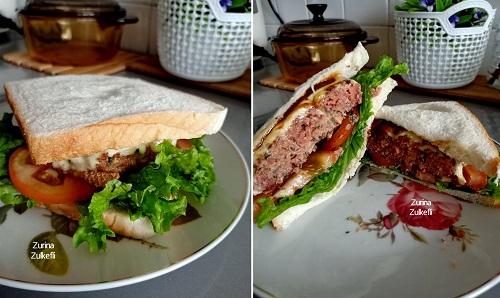 Resepi Sandwich Dengan Inti Daging Burger