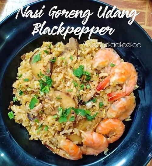 Resepi Nasi Goreng Udang Blackpepper