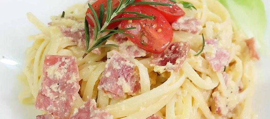 Resep Fettucini Carbonara