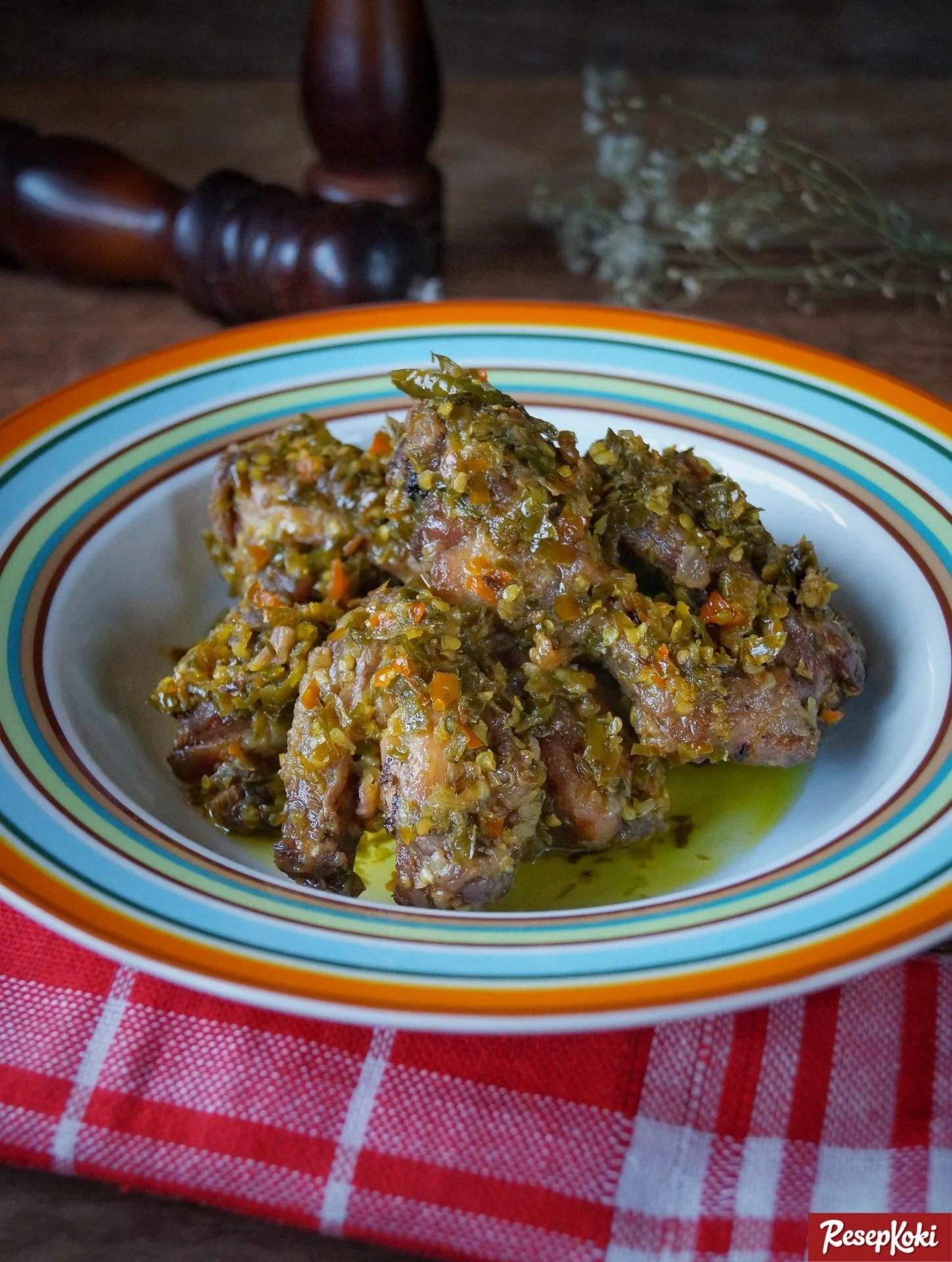 Ayam Cabe Ijo Pedas Asli Ala Padang Resep Resepkoki Minyak Hijau