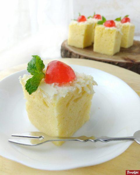 Gambar Hasil Membuat Resep Cheese Cake Kukus (Tanpa Oven)