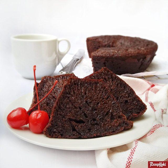 Gambar Hasil Membuat Resep Kue Bolu Sarang Semut (Caramel Cake)