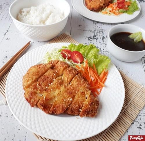 Gambar Hasil Membuat Resep Chicken Katsu
