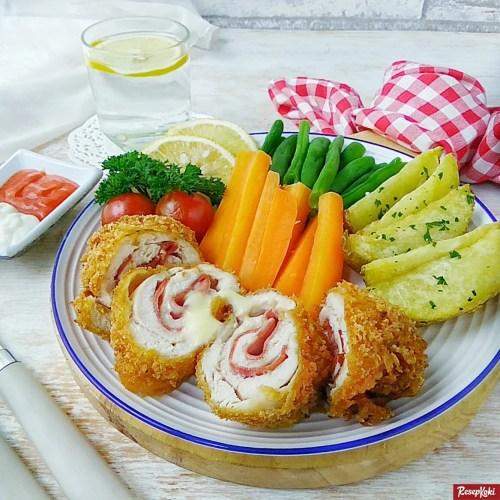 Gambar Hasil Membuat Resep Chicken Cordon Bleu