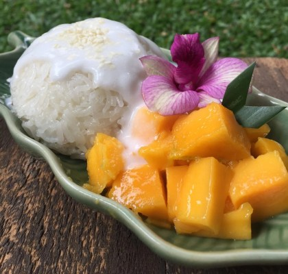 mango, sticky, rice