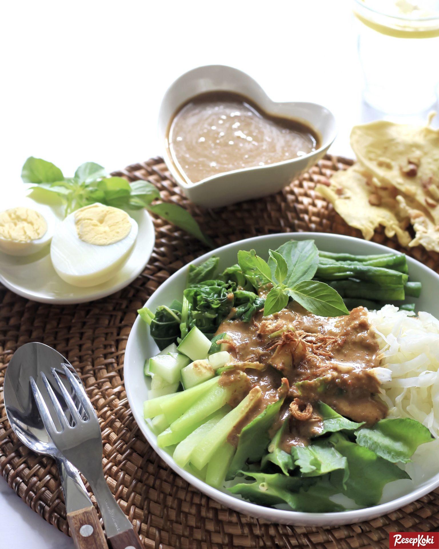 pecel sayur lengkap istimewa praktis resep resepkoki