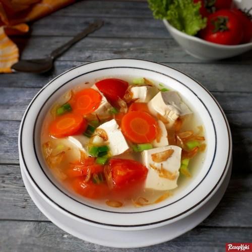 Gambar Hasil Membuat Resep Sup Tahu