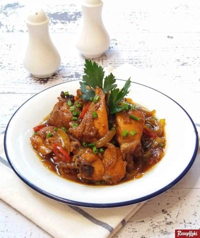 Gambar Hasil Membuat Resep Ayam Saus Tiram