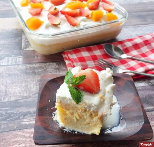 Gambar Hasil Membuat Resep Milk Bath Cake (Tres Leches)
