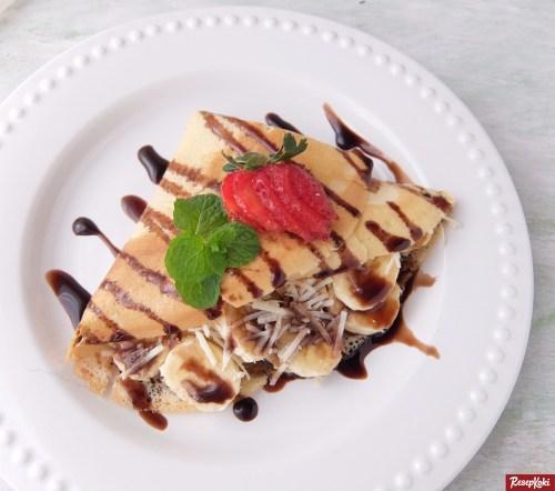 Gambar Hasil Membuat Resep Crepes Pisang Coklat Keju