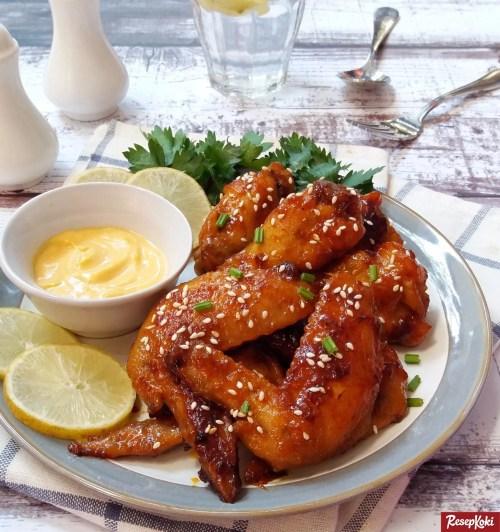 Gambar Hasil Membuat Resep Spicy Chicken Wings (Richeese)
