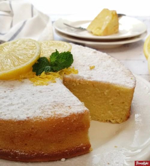 Gambar Hasil Membuat Resep Sponge Cake Lemon