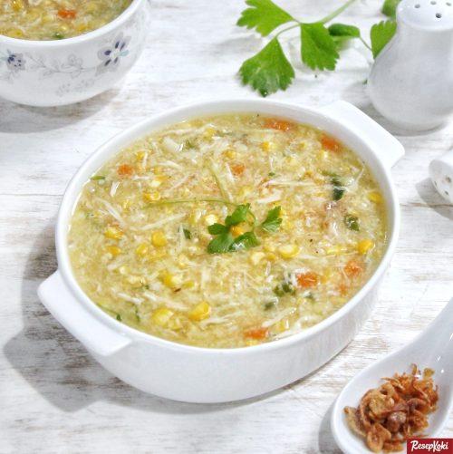 Gambar Hasil Membuat Resep Sup Jagung Kepiting