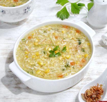sup jagung kepiting lezat