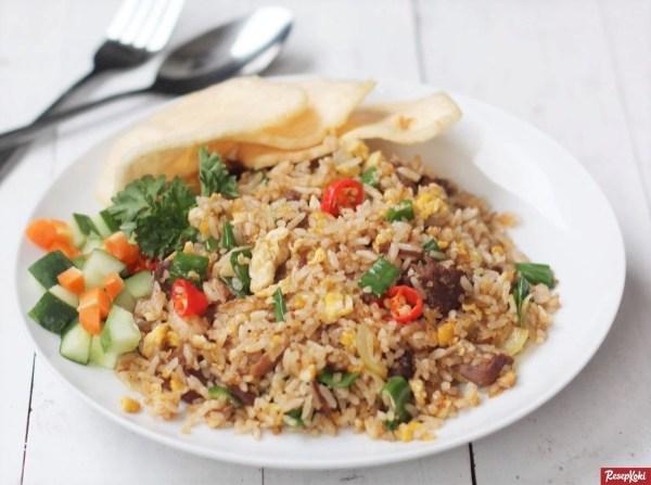 nasi goreng rendang praktis