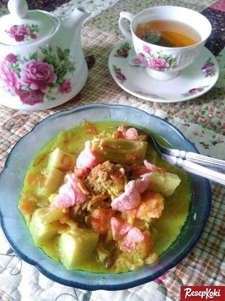 Resep Kuah Lontong Lebaran : resep, lontong, lebaran, Lontong, Sayur, Padang, Lezat, Resep, ResepKoki