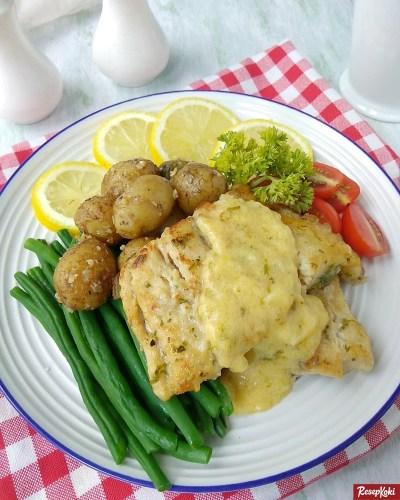 Gambar Hasil Membuat Resep Steak Ikan Dori Panggang Saus Lemon