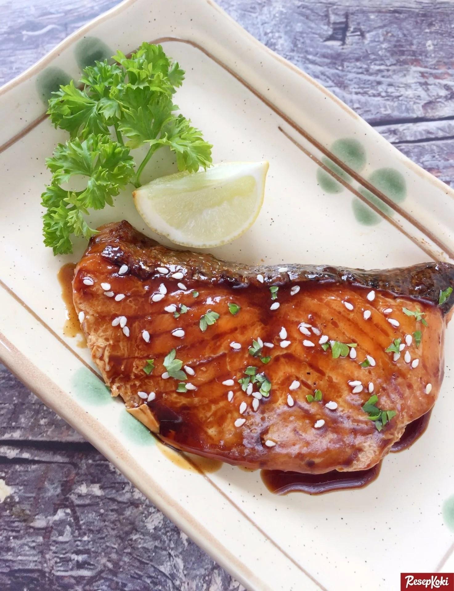 Masakan Ikan Salmon : masakan, salmon, Resepi, Salmon, Teriyaki