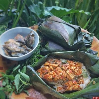 nasi bakar tuna pedas