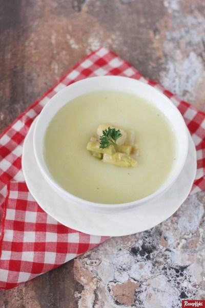 Gambar Hasil Membuat Resep Sup Asparagus Krim Ayam