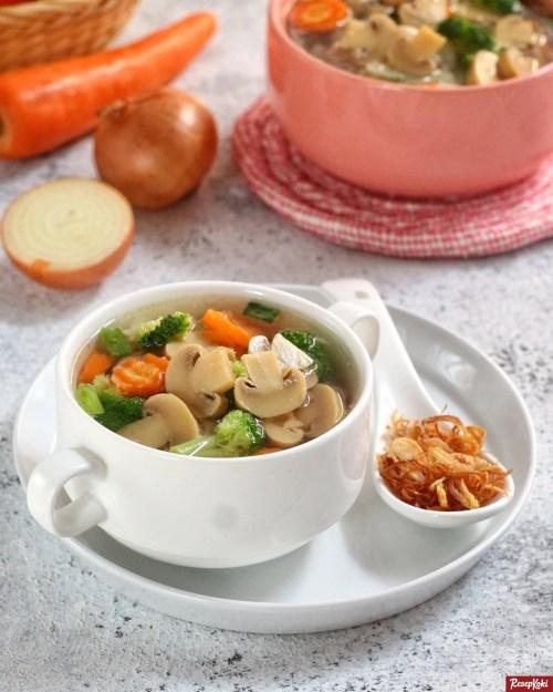 Gambar Hasil Membuat Resep Sup Jamur Kancing