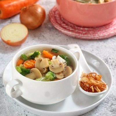 sup jamur kancing praktis