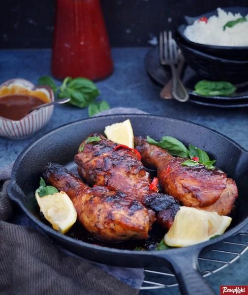 Gambar Hasil Membuat Resep Ayam Barbeque