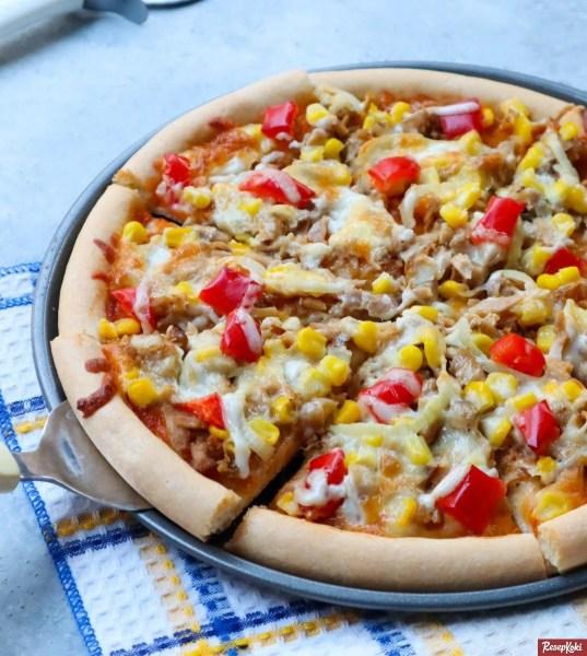 Gambar Hasil Membuat Resep Pizza Tuna
