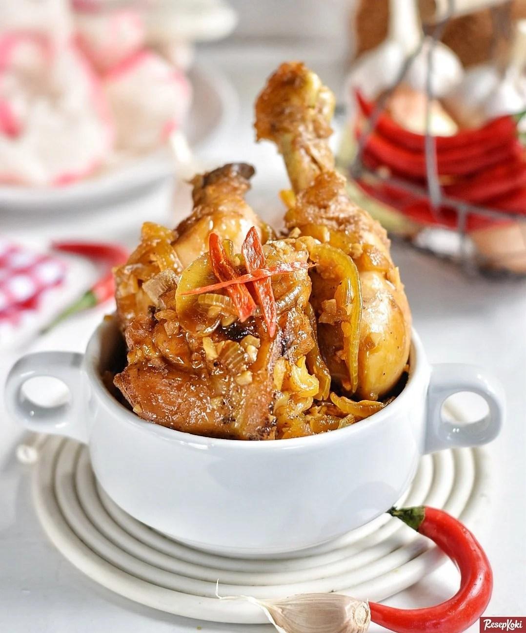 Bumbu Ayam Kecap Kuah : bumbu, kecap, Kecap, Sederhana, Resep, ResepKoki