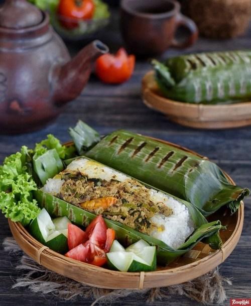 Gambar Hasil Membuat Resep Nasi Bakar Ikan Tongkol
