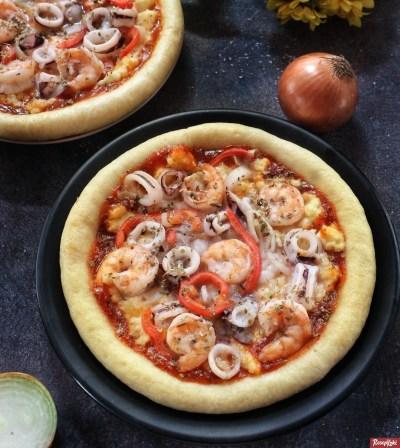Gambar Hasil Membuat Resep Pizza Seafood