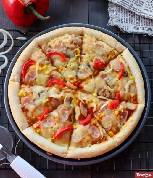 Gambar Hasil Membuat Resep Pizza Sosis Ayam