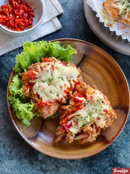 Gambar Hasil Membuat Resep Ayam Geprek Keju