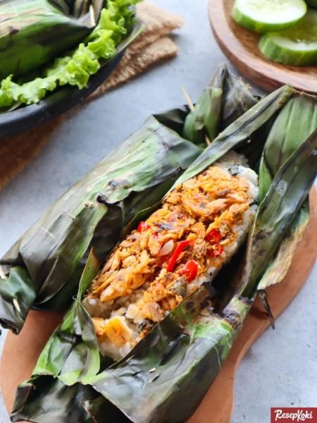 Gambar Hasil Membuat Resep Nasi Bakar Ikan Cakalang