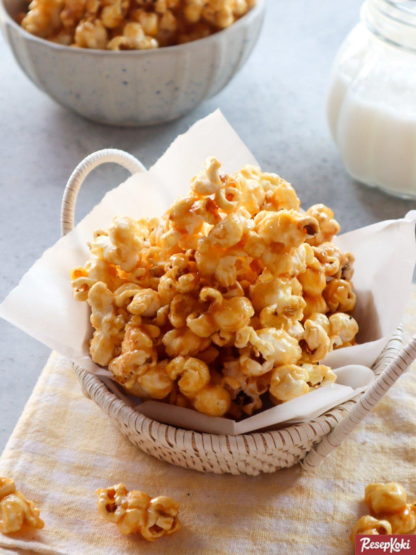 Resep Popcorn Manis : resep, popcorn, manis, Popcorn, Caramel, Manis, Simple, Bioskop, Resep, ResepKoki