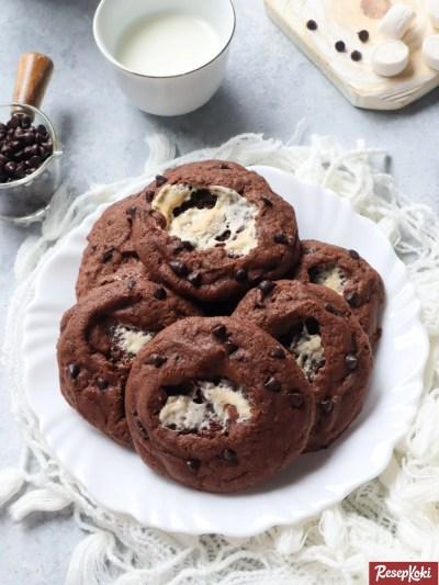 Gambar Hasil Membuat Resep Marshmallow Cookies
