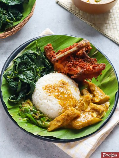Gambar Hasil Membuat Resep Nasi Kapau