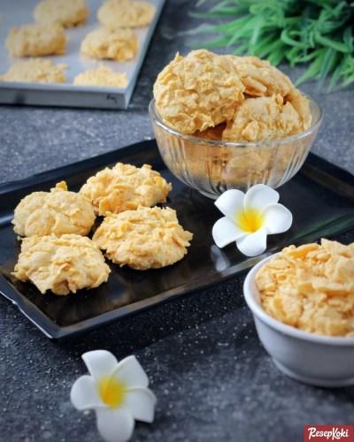 Gambar Hasil Membuat Resep Cornflake Cookies