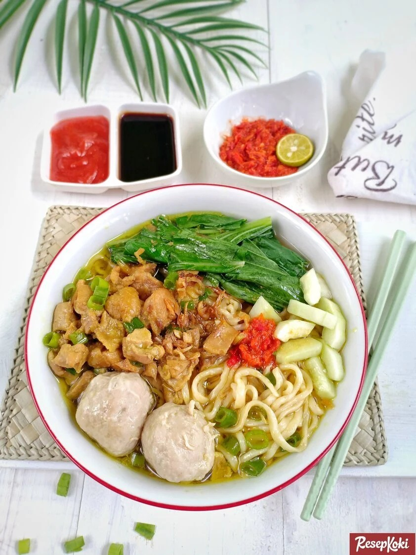 Resep Mie Ayam Solo : resep, Mudah, Resep, ResepKoki