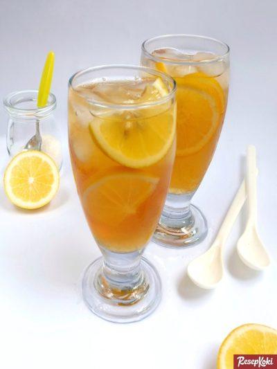 Gambar Hasil Membuat Resep Es Lemon Tea