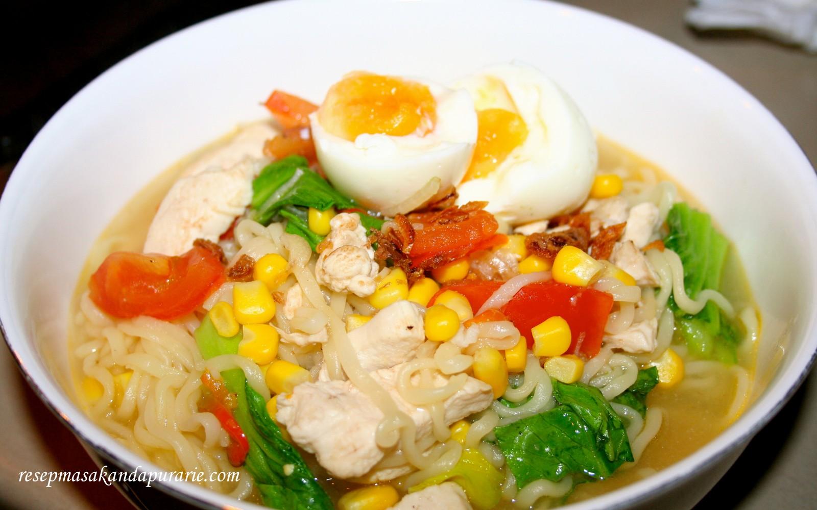 resep  membuat mie rebus spesial resep masakan dapur arie Resepi Sambal Telur Rebus Enak dan Mudah