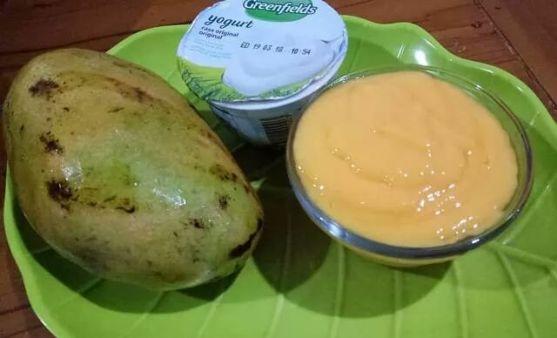 Mpasi 7m+ (Jus Mangga mix yogurt plain)