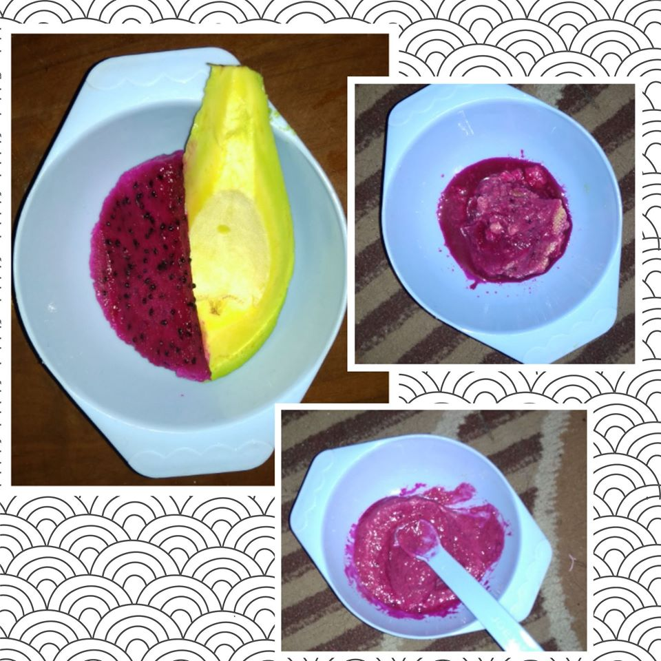 MPASI Buah naga dan buah alpukat untuk bayi sembelit