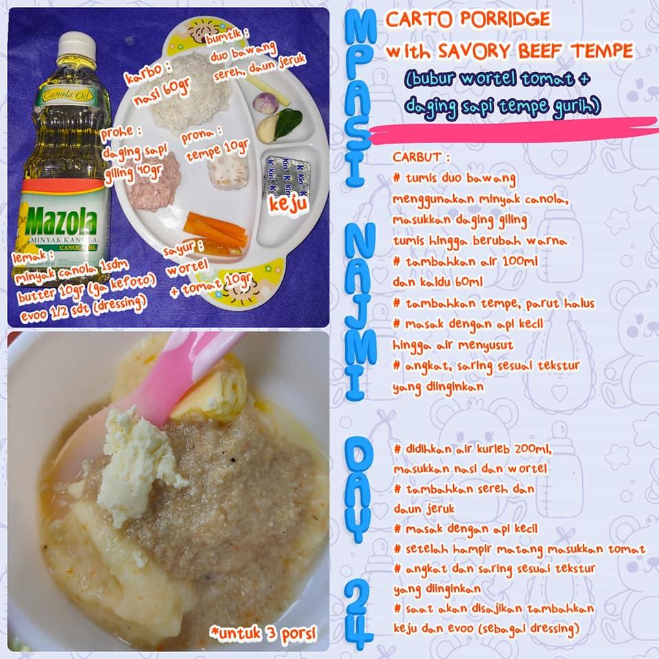 Resep MPASI Bubur Wortel Tomat